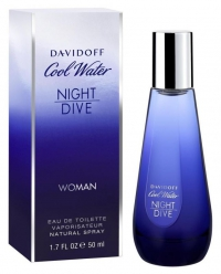 Davidoff Cool Water Night Dive Woman  edt 50 ml.