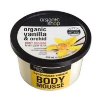 Organic shop мусс для тела бурбонская ваниль 250 мл